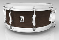 "BRITISH DRUM CO. 14 x 5.5"" Lounge snare drum, mahogany and birch 5.5 mm blended shell, Kensington Crown finish"