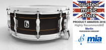 "BRITISH DRUM CO. 14 x 5.5"" Merlin snare drum, maple and birch 10.5 mm hybrid shell, 20 ply"