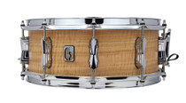 "BRITISH DRUM CO. 14 x 5.5"" The Maverick snare drum, cold-pressed 10-ply maple shell"