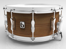 "BRITISH DRUM CO. 14 x 6.5"" Big Softy snare drum, tulip and cherry 7.5 mm blended shell"