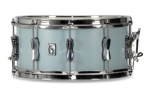 "BRITISH DRUM CO. 14 x 6.5"" Legend snare drum, cold-pressed birch 6 mm shell, Skye Blue finish"