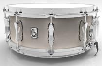 "BRITISH DRUM CO. 14 x 6.5"" Legend snare drum, cold-pressed birch 6 mm shell, Whitechapel finish"