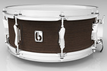 """BRITISH DRUM CO. 14 x 6.5"""" Lounge snare drum, mahogany and birch 5.5 mm blended shell, Kensington Crown finish"""