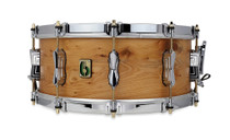 """BRITISH DRUM CO. 14 x 6.5"""" The Archer snare drum, cold-pressed 10-ply English yew shell"""