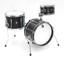 BRITISH DRUM CO. Imp professional portable 3-piece drum set, cold-pressed maple shells, Kensington Knight finish