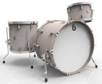 BRITISH DRUM CO. Legend Club 20 3-piece drum set, cold-pressed birch 6 mm shells, Whitechapel finish