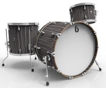 BRITISH DRUM CO. Legend Club 22 3-piece drum set, cold-pressed birch 6 mm shells, Carnaby Slate finish