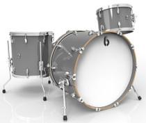 BRITISH DRUM CO. Legend Club 22 3-piece drum set, cold-pressed birch 6 mm shells, Winchester Grey finish