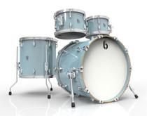 BRITISH DRUM CO. Legend Fusion 22 4-piece drum set, cold-pressed birch 6 mm shells, Skye Blue finish
