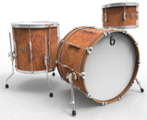 BRITISH DRUM CO. Lounge Club 22 3-piece drum set, mahogany and birch 5.5 mm blended shells, Iron Bridge finish