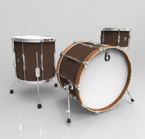 BRITISH DRUM CO. Lounge Club 24 3-piece drum set, mahogany and birch 5.5 mm blended shells, Kensington Crown finish
