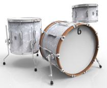 BRITISH DRUM CO. Lounge Club 24 3-piece drum set, mahogany and birch 5.5 mm blended shells, Windermere Pearl finish