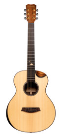 ISLANDER Mini-guitar with solid sitka spruce top, acacia