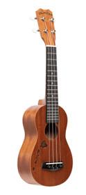 ISLANDER Traditional soprano ukulele with mahogany top and Hawaiian islands engraving
