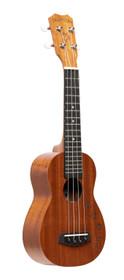 ISLANDER Traditional soprano ukulele with mahogany top and Honu turtle engraving