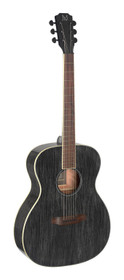 J.N GUITARS Acoustic auditorium guitar with solid mahogany top, Yakisugi series