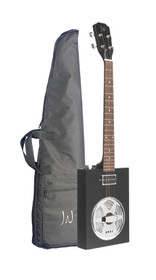 J.N GUITARS Acoustic-electric Cigar Box Guitar with 4 strings, resonator, sapele top, Cask series