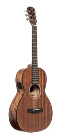 J.N GUITARS Acoustic-electric parlor guitar with solid mahogany top, Dovern series