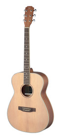J.N GUITARS Asyla series 4/4 auditorium acoustic guitar with solid spruce top, left-handed model