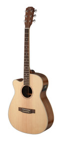 J.N GUITARS Asyla series 4/4 cutaway auditorium acoustic-electric guitar with solid spruce top, left-handed