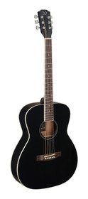 J.N GUITARS Black acoustic auditorium guitar with solid spruce top, Bessie series