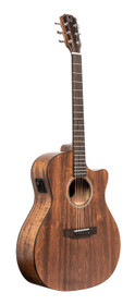 J.N GUITARS Cutaway acoustic-electric auditorium guitar with solid mahogany top, Dovern series