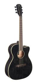 J.N GUITARS Cutaway acoustic-electric auditorium guitar with solid mahogany top, Yakisugi series