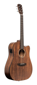 J.N GUITARS Cutaway acoustic-electric dreadnought guitar with solid mahogany top, Dovern series