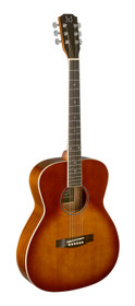 J.N GUITARS Dark cherryburst acoustic auditorium guitar with solid spruce top, Bessie series