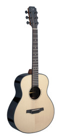 J.N GUITARS Lyne series, electro-acoustic Auditorium Travel guitar with solid spruce top