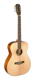 J.N GUITARS Natural-coloured acoustic auditorium guitar with solid spruce top, Bessie series