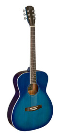 J.N GUITARS Transparent blueburst acoustic auditorium guitar with solid spruce top, Bessie series