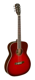 J.N GUITARS Transparent redburst acoustic auditorium guitar with solid spruce top, Bessie series