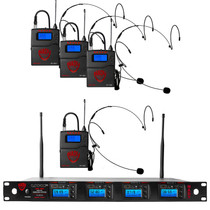 NADY Nady 4W-1KU HM-10 Quad True Diversity 1000-Channel Professional UHF Wireless System