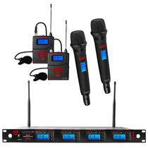 NADY Nady 4W-1KU HT Quad True Diversity 1000-Channel Professional UHF Wireless System