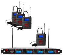NADY Nady 4W-1KU LT Quad True Diversity 1000-Channel Professional UHF Wireless System