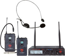 NADY Nady U-2100 Dual Combo HM-GT Wireless Headset Microphone and Instrument/Guitar System
