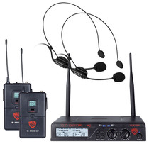 NADY Nady U-2100 Dual HM 200-Channel UHF Wireless Headset Microphone System