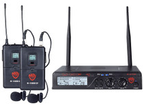 NADY Nady U-2100 Dual LT 200-Channel UHF Wireless Lavalier Microphone System
