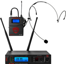 NADY Nady W-1KU HM-10 True Diversity 1000-Channel Professional UHF Headset Microphone Wireless System