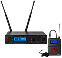 NADY Nady W-1KU LT True Diversity 1000-Channel Professional UHF Lapel/lavalier Microphone Wireless System