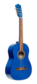 STAGG 1/2 classical guitar with linden top, blue