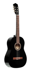 STAGG 3/4 classical guitar with linden top, black