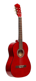 STAGG 3/4 classical guitar with linden top, red