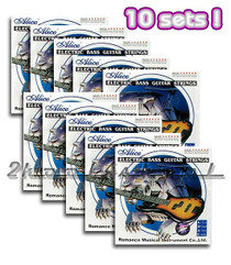 10 sets of Electric Bass Guitar strings LT round wound