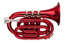 STAGG Bb Pocket Trumpet, ML-bore, Brass body material