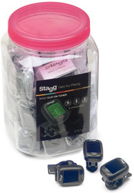 STAGG Box of 30 black automatic chromatic clip-on tuners