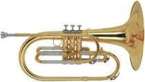 STAGG F Marching Mellophone, in case