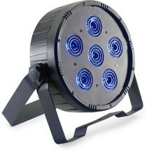 STAGG Flat ECOPAR 6 spotlight with 6 x 12-watt RGBWAUV (6 in 1) LED