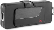 STAGG Lightweight soft case for keyboard, with wheels and handle